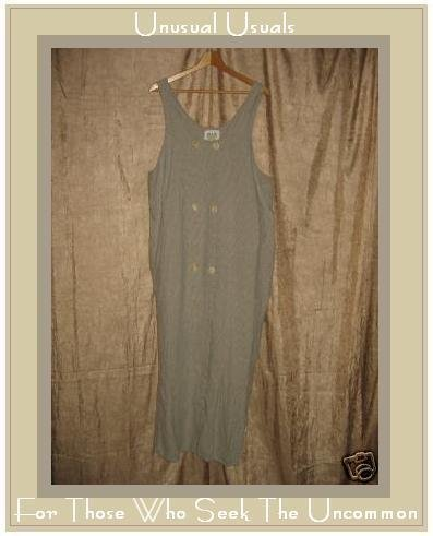 FLAX by ANGELHEART Jeanne Engelhart LINEN Jump Dress LARGE L