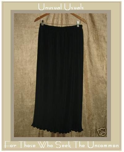 JULES of Morocco Long Full Black Signature Pleats Skirt