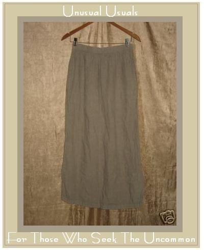 CP SHADES Long Full Lavender Gray LINEN Skirt Medium M