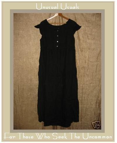 FLAX Empire Waist Drawstring Dress Jeanne Engelhart SMALL S