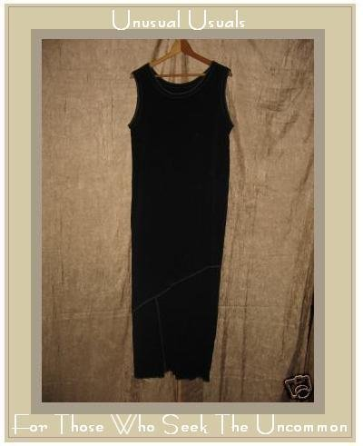 NOTHING MATCHES Boutique Black Assymetric Seams Dress MEDIUM M