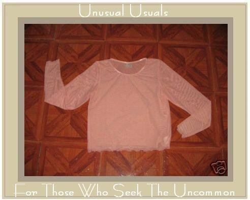 CLEA Boutique Light & Airy Pink PULLOVER SHIRT Small S