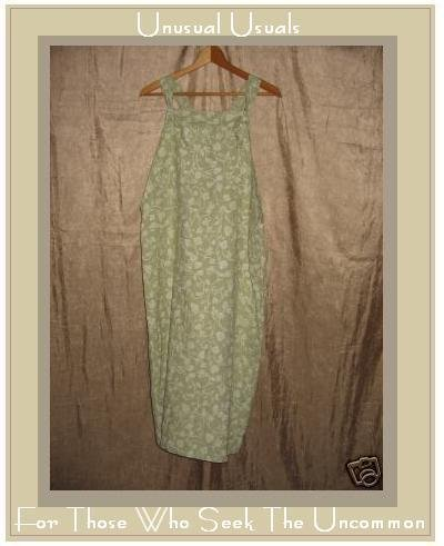PUTUMAYO Long Leafy Green LINEN Jump Dress Medium M