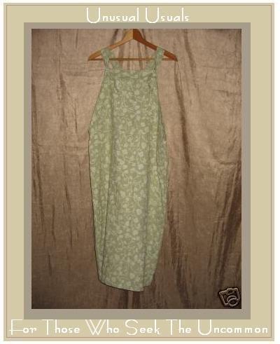 PUTUMAYO Long Leafy Green LINEN Jump Dress Medium M