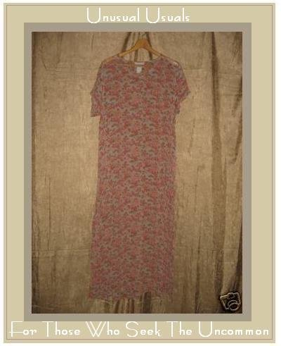 APRIL CORNELL Sweet Beaded A-Line Floral Dress Large L