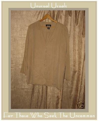 Eileen Fisher Silk Button Jacket Top Medium Large M L