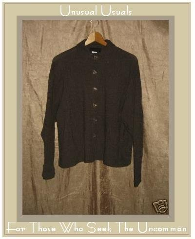 KINDRED SPIRIT Earthy Textured Button Shirt Top Large L