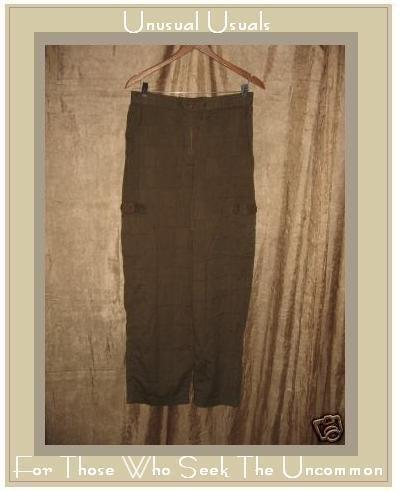 Putumayo Brown Pictograph Drawstring Cargo Pants Medium M