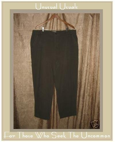 Crossroads Woman Earthy Green Cotton Slacks Pants 20W