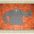 J. JILL SOFT GRAY COTTON KNIT PULLOVER SHIRT SMALL SMALL S