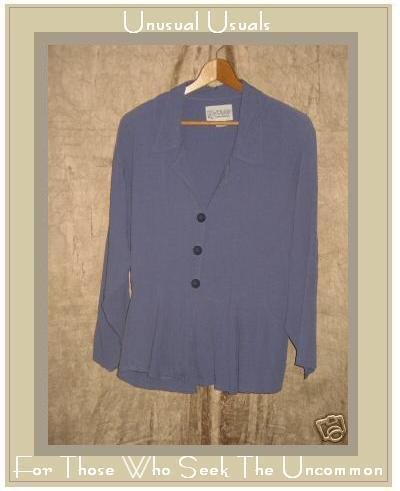 R-Clan FLAX by Jeanne Engelhart Peplum Jacket Molly Top SMALL S