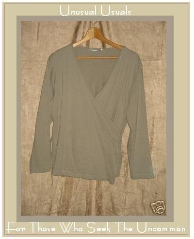 COTTON COUTURE Soft Wrap Jacket Shirt Top Medium M Large L