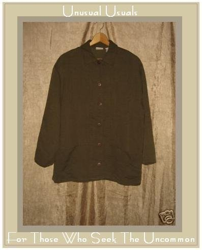 CROSSROADS Soft Earthy Olive Brown Button Jacket Medium M