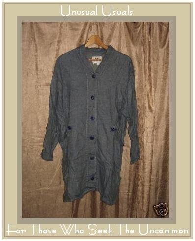 Jeanne Engelhart FLAX linen button Jacket Coat Medium M