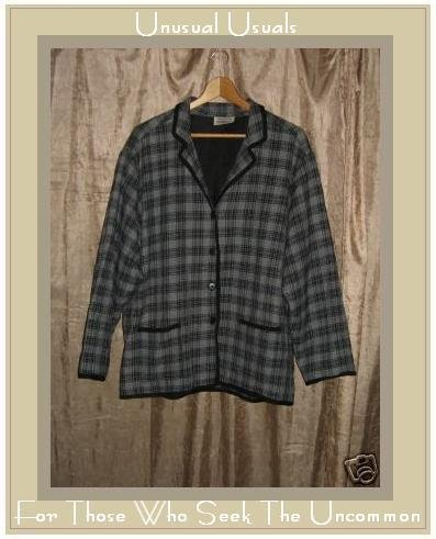 PUTUMAYO lined plaid cotton button down jacket Medium M