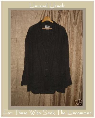 FLAX Jeanne Engelhart Bark Cloth LINEN BLAZER Jacket SMALL S