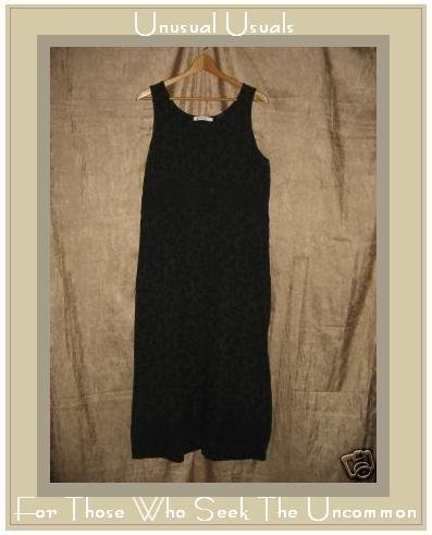 ALYWEAR Aly Wear Black LINEN Pullover Dress Large L