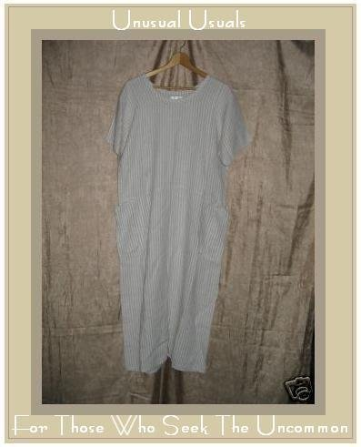 FLAX by Angelheart LINEN Dress Jeanne Engelhart Small S