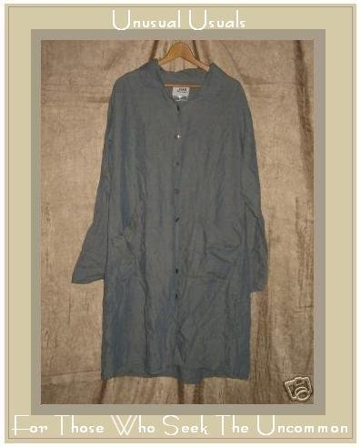Flax By Jeanne Engelhart Long Shapely Coat Jacket Top Large L