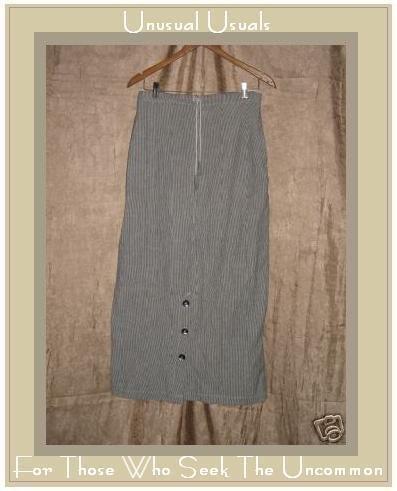 TRIBE Boutique Hemp & Cotton Drawstring Skirt Medium M