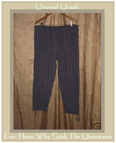HIPPY HIPPIE Striped Drawstring Pants Medium Large M L