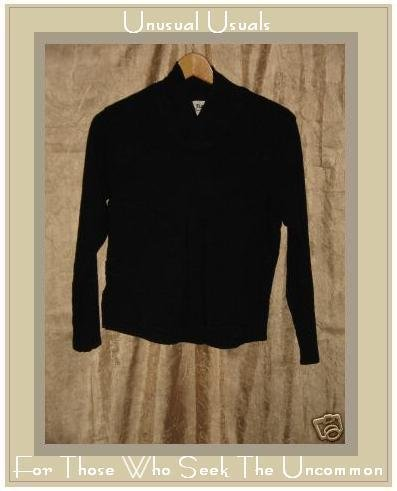 FLAX Black RAVEN SHIRT top by Jeanne Engelhart PETITE P