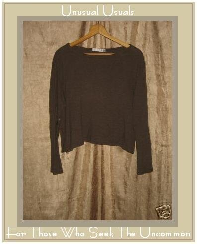 CUT LOOSE Soft Brown Knit Pullover shirt top Medium M