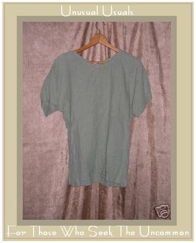 ZACK Linen Shapely Tunic Top Pullover Shirt Medium M