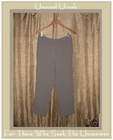 J. JILL Textured Gray Rayon Wool Pants Slacks Medium M