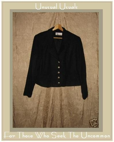 SILHOUETTES Weighty Black Shapely Tailored Jacket 20W