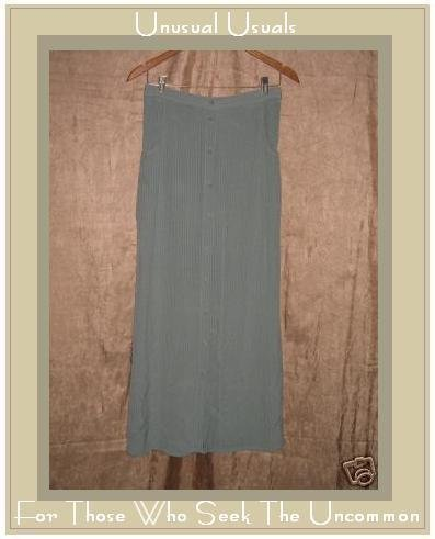 FLAX Rayon Acetate FULL Button SKIRT Jeanne Engelhart Small S