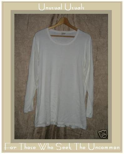 J. Jill Cream Cotton Knit Pullover Shirt Tunic Top 1X