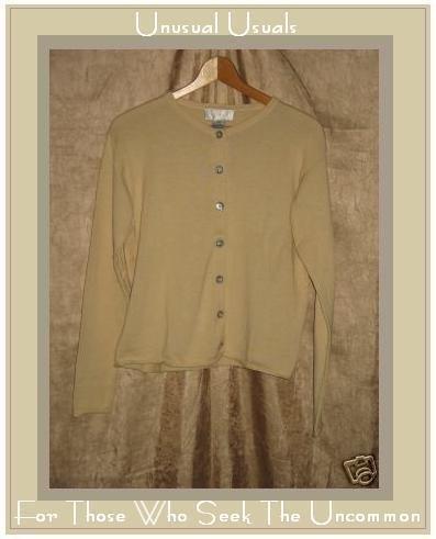 J. Jill Cream Cotton Button Cardigan Sweater X-Small XS