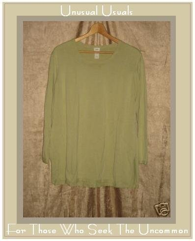 J. Jill Woman Green Cotton Knit Sweater Shirt Top 2X