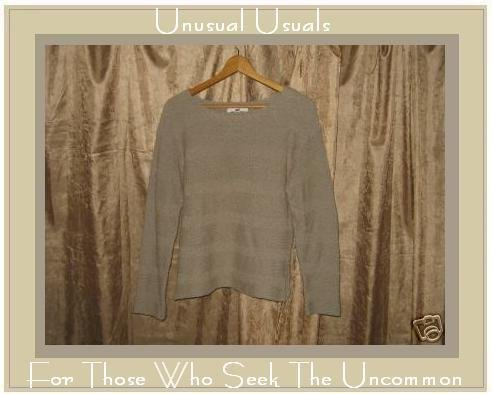FLAX By Angelheart Sage Sweater Jeanne Engelhart Medium Large M L