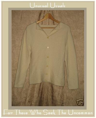 RODIER Cream ANGORA WOOL Boutique Cardigan Sweater 40