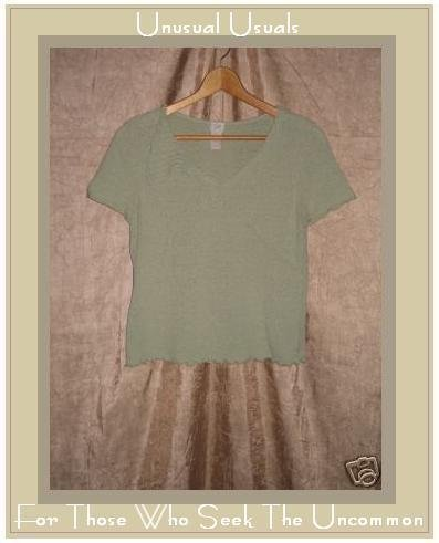 J. JILL Soft Green Silk Sweater Knit Shirt Top Small S
