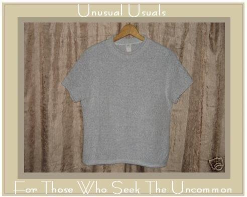 J. JILL SOFT NUBBLY GRAY PULLOVER SWEATER TOP MEDIUM M