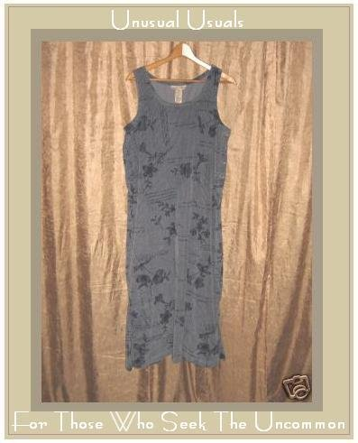SWEET JESSIE BLUE WIDE WHALE CORDUROY JUMP DRESS MEDIUM M
