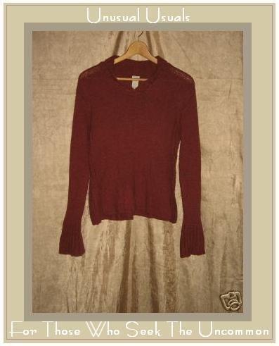 J. Jill Nice & Cozy Brick Red Sweater Shirt Top Small S