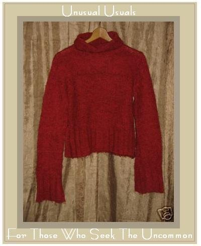 FREE PEOPLE SOFT KNIT RED TURTLE NECK SWEATER MEDIUM M