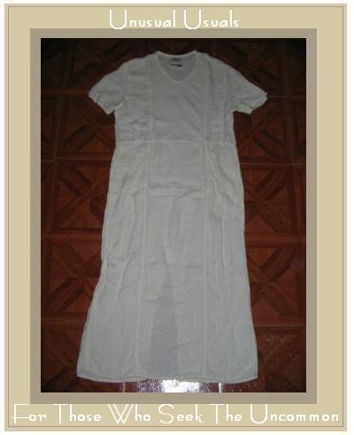 FLAX WHITE WAFFLE STITCH DRESS JEANNE ENGELHART PETITE P
