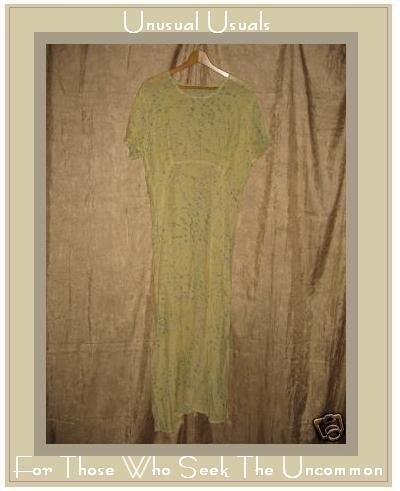 FLAX by Jeanne Engelhart Lemon Bough Movie Star Dress Medium M
