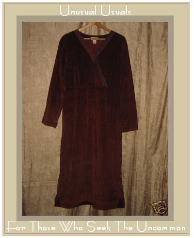 J. Jill Autumn Red Corduroy Crossed Bodice Dress Large L