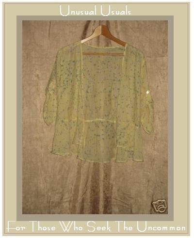FLAX by Jeanne Engelhart Peplum Wrap Choice Top Jacket  Small S