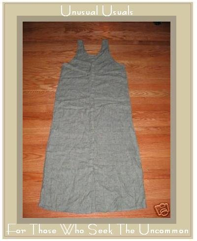 FLAX GREEN GRANITE BUTTON DRESS JEANNE ENGELHART PETITE P