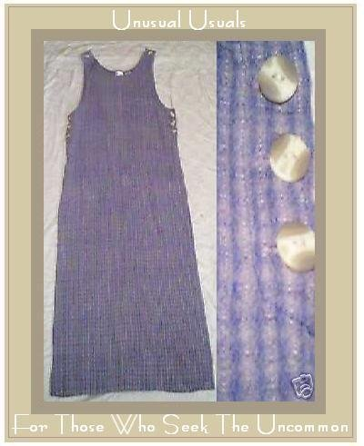 COOL BLUE STRIPE COTTON TANK JUMP DRESS THOMAS LAKE SMALL S