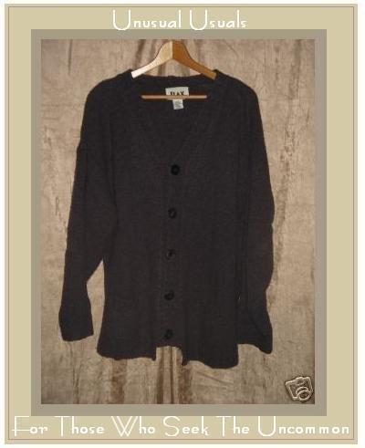 Flax by Angelheart Purple Wool Sweater Engelhart S M