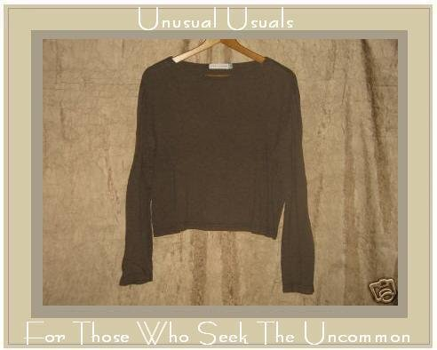 CUT LOOSE Soft Brown Knit Pullover shirt top Small S