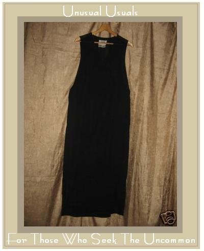 FLAX by Jeanne Engelhart Black crossed bodice Dress Small S